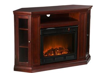 Incomplete  Southern Enterprises Claremont Convertible Media Cherry Electric Fireplace