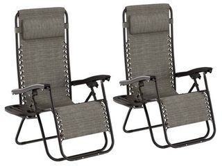 lavish Home Zero Gravity lounge Chairs  Set of 2 Retail 119 00