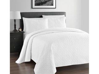 Kotter Home lightweight Zaria 3 Piece Full Queen Quilt Coverlet Set  Retail 93 49