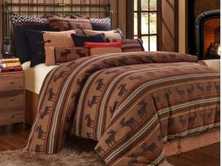 HiEnd Accents 5 Piece Moose or Bear Full Duvet Set  Retail 340 00