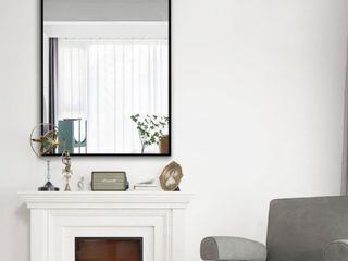 Black large Rectangle Bathroom Wall Mounted Vanity Mirror  Retail 156 99