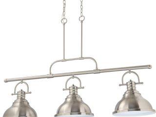 Volume lighting 3 light Indoor Brushed Nickel linear Hanging Pendant  Retail 415 49
