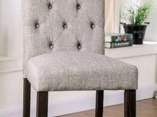 Furniture of America Dining Room Side Chair  Grey Set of 2
