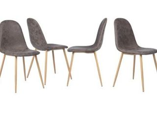 Carson Carrington Mid Century Modern PU Dining Chair  Set of 4  Retail 258 49