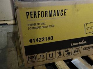 Char Broil Performance 6 Burner liquid Propane Gas Grill w  Side Burner