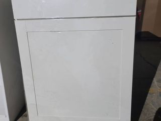 White Cabinet 24x24x35 damaged please see pictures