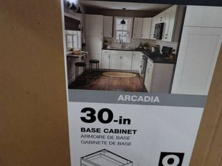 Diamond Now 30 in base cabinet Arcadia White  Back has damage see pictures