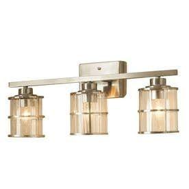 allen   roth 3 light Satin Nickel Bathroom Vanity light