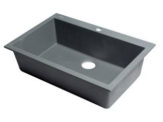 AlFI brand AB3020DI T Titanium 30  Drop In Single Bowl Granite Composite Kitchen Sink