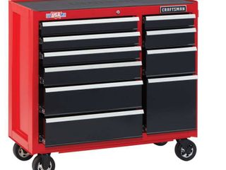 Craftsman 2000 Series 41 in  10 drawer Steel Rolling Tool Cabinet 37 5 in  H x 18 in  D