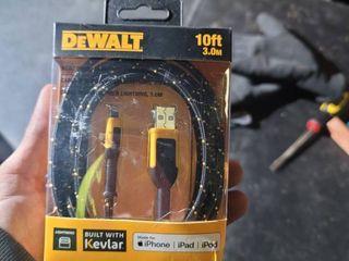 Dewalt 131 1326 DW2 Reinforced Braided Cable for lightning  10 ft