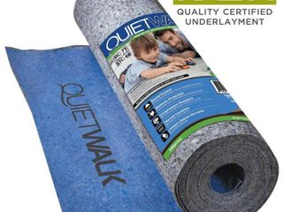 lOT OF 2 MP Global Products QuietWalk 100 Sq Ft Acoustical Underlayment with Built in Vapor Barrier for laminate Flooring