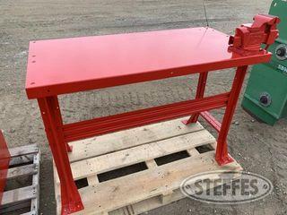 Steel shop bench w vise 1 jpg