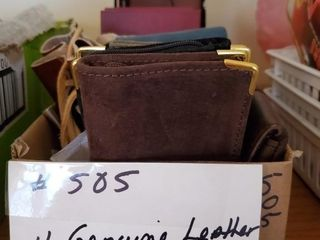Genuine leather and non leather wallets