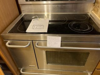 large Stainless Steel 5 Burner Kenmore Stove