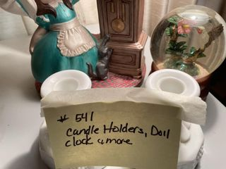 Candle Holders Doll Clock   More