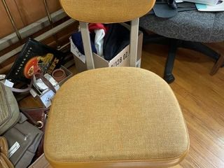 VIntage Orange Rolling Office Chair