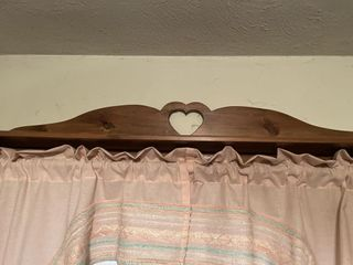 Wooden Heart Curtain Rod