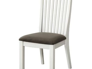 Side Chair  White and Dark Gray