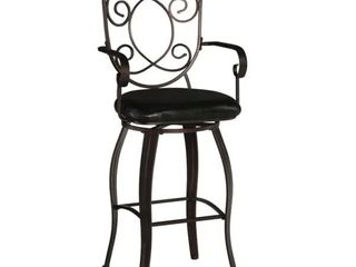 Copper Grove Grigoriopol Metal Bar Stool with Dark Brown Vinyl Seating Retail 97 73