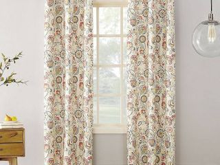 Sun Zero Cooper Textured Thermal lined Room Darkening Energy Efficient Grommet Curtain Panel