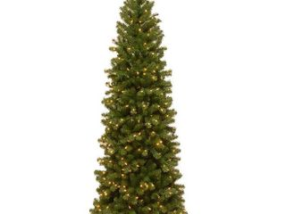 7 5 Foot   Green  7 5 foot Fir Hinged Pencil Slim Tree