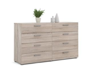 Porch   Den Angus Space saving Foiled Surface 8 drawer Double Dresser Retail 257 99