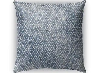 18X18  Kavka Designs blue zander dark blue destressed accent pillow by Kavka Designs