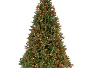 6 5  Downswept Douglas Fir Tree with Multicolor lights  Bottom strand of lights don t work
