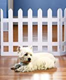 Folding White Picket Pet Gate   medium