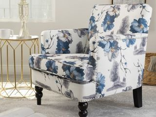 Boaz Floral Fabric Club Chair by Christopher Knight Home  legs have some scuffs