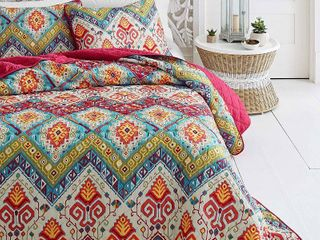 2pc Twin Moroccan Nights Quilt Set Red   Azalea Skye