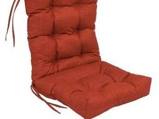 Cinnamon  18 inch by 38 inch Spun Polyester Solid Outdoor Tufted Chair Cushion