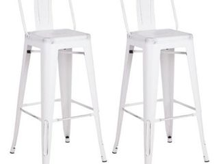 Metal Industrial 24 inch Bar Stool  Set of 2  Retail 93 49