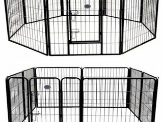 Go Pet Club GH40 40 in  Heavy Duty Pet Play And Exercise Pen With 8 Panels