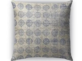 18X18  Kavka Designs grey lugo accent pillow with insert