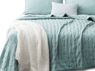 Green   King  Kasentex Quilt Bedspread Set