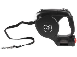 lucyBelle Pets 3 in 1 Retractable leash with light and Waste Bag Dispenser