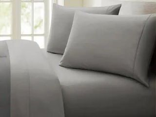 Grey   Queen  Porch   Den Jess 1000 Thread Count Cotton rich Deep Pocket Sheet Set