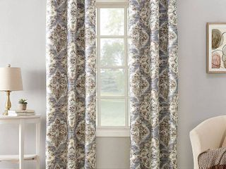40 x 95   Grey  Sun Zero Regina Floral Watercolor Thermal Insulated Grommet Curtain Panel