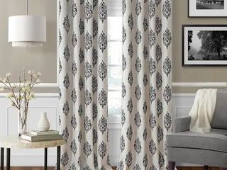 Navara Medallion Room Darkening Window Curtain   52  W X 84  l