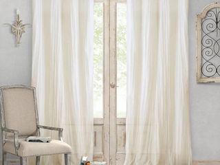 Jolie 52  x 95  Crushed Semi Sheer Curtain Panel