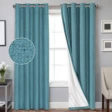 PrimeBeau Blackout Waterproof Coating Thermal Insulated Curtains   Set of 2