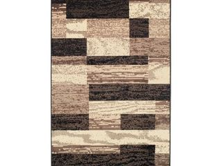 Superior Rockwood Distressed Patchwork Modern Area Rug