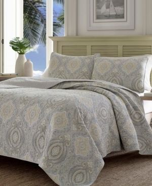 Tommy Bahama Turtle Cove King Medallion Quilt Set   King