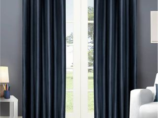 Exclusive Home Chatra Faux Silk Grommet Top Window Curtain Panels   Set of 2