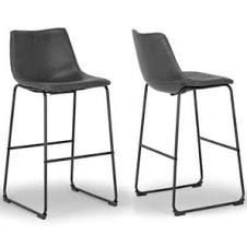Carbon loft Prusiner Faux leather Bar Stools   Set of 2