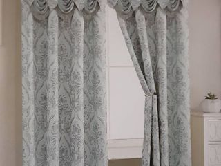 Penelope Curtain Panels w  Valances   Set of 2