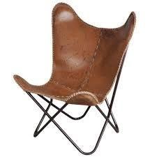 Carbon loft larkin Rustic leather Butterfly Chair