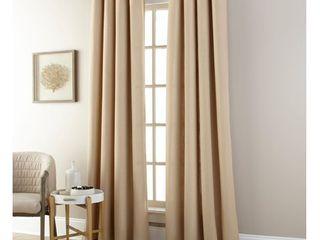 Nanshing Janie Grommet Single Curtain Panel  Sand